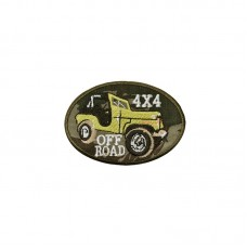 Bordado Termocolante 4x4 Off-Road - Amarelo